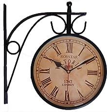 ROYSTAR Double Sided Analog Vintage Design Wall Clock