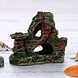 Berrose-1 Stück Berg Aussicht Aquarium Steingarten Höhlenbaum verstecken Aquarium Ornament Dekoration-Aquarium Dekoration, Wohnaccessoires (11 cm * 9,5 cm * 5,5 cm, B)