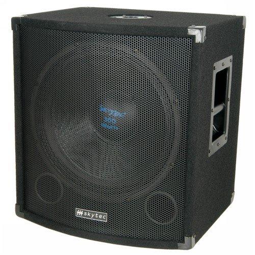 Skytec Professionelle Bassbox 300 W 38cm Subwoofer Tiefpass-Filter (Home-subwoofer-verstärker)