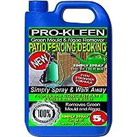 5 litros - Simply Spray y deja desatendido Concentrate diseño cilíndrico - valla - resistentes - molde algas y Moss Killer