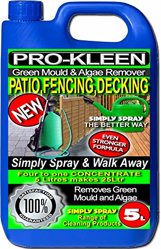 Pro-Kleen Green Mould & Algae Remover & Cleaner For Patios, Fencing & Decking (5L)