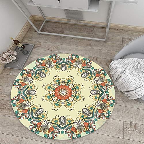 Moderne marokkanische Teppiche Bohemian Round Carpet Boho Simplicity Mat für Wohnzimmer Schlafzimmer Multi Style Teppiche QFLY 4 (Color : MZ24, Size : 5'11''(180cm)) -