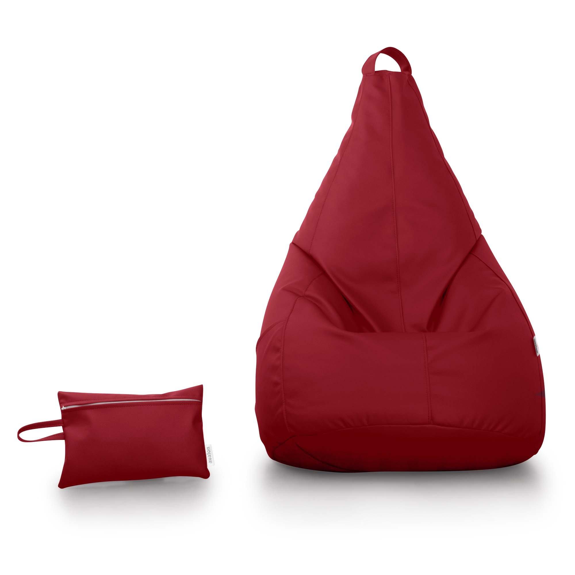 Cucire Poltrona Sacco.Avalon Pouf Poltrona Sacco Pera In Ecopelle Di Dim 70x130cm Made In Italy Pochette Omaggio Di Colore Rosso