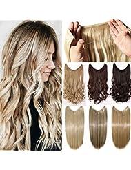 Mode Extensions cheveux naturel clips câble extension des cheveux - 50cm tout droit - Blond de blanchiment