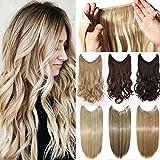 50cm Haarverlängerung Haarteil Extensions Ein Tressen Haare Haarverdichtung Glatt - Dunkelblonde Mis Bleichmittel Blond
