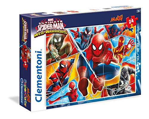 Clementoni 24053 - Puzzle Maxi Spiderman Web Warriors, 24 Pezzi