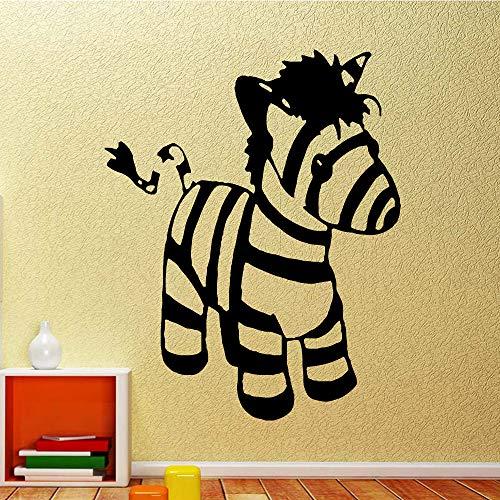 Geiqianjiumai Niedlicher Zebra Wandaufkleber selbstklebend Kunst Kinderzimmer Dekoration...