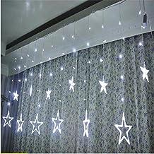 Misslight Cortina de luces LED Led Iluminación Luces Decorativas Interior Exterior Impermeables Cadena de Lámparas (blanco)