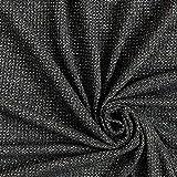 Fabulous Fabrics Strickstoff Lurex – schwarz/Silber — Meterware ab 0,5m — zum Nähen von Röcken, Kleidern und Abend- und Partymode