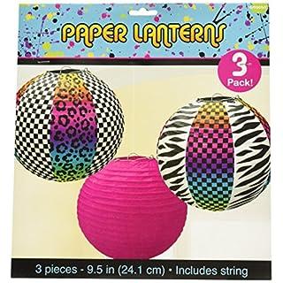 Amscan 241223Papier-Lampions im Stil der 80er Jahre