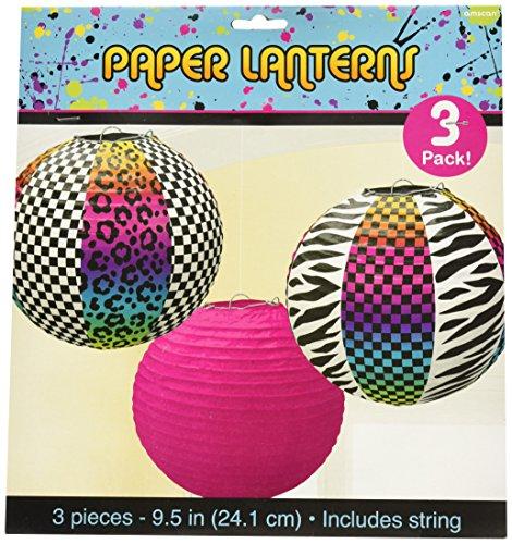 Amscan 241223Papier-Lampions im Stil der 80er (80er Jahre 80er Looks Party)