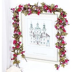 Packung von 3 Hochzeit Familie Garten Dekoriert mit zweifarbigen Blüten DIY Blumenrebe 19 Blumen / Wurzeln