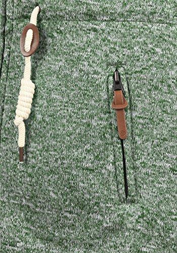 DESIRES Thora Damen Lange Fleecejacke Sweatjacke Jacke Mit Kapuze Und Daumenlöcher, Größe:XL, Farbe:Climb Ivy (3785) - 4