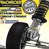 KIT ORIGINAL MONROE 4 Amortiguador Para Citroen XSARA-Picasso 2 Delanteras y 2 Traseras.