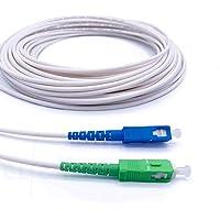 Elfcam® - Câble/Rallonge Fibre Optique { Freebox } - Jarretière Simplex Monomode SC-APC à SC-UPC - Blindage et…