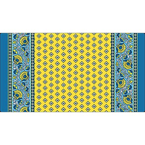 Toland Home Garden French Paisley Yellow 20 x 38-Inch Decorative USA-Produced Anti-Fatigue Standing Desk Comfort Designer Mat by Toland Home Garden