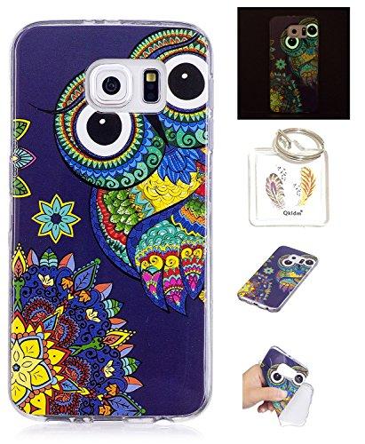 Preisvergleich Produktbild Hülle Samsung Galaxy S6 Edge TPU schutz silikonhülle, Weihnachtsgeschenke niedlichen cartoon bild transparent handy Hülle für Samsung Galaxy S6 Edge + schlüsselanhänger (* / 106) (1)