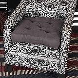 Homescapes Coussin de Chaise ou Réhausseur en 100% cuir velours de 50 x 50 x 10 cm de couleur gris