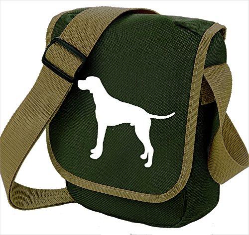 Bag Pixie - Borsa a tracolla unisex adulti White Dog Olive Bag
