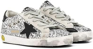 Golden Goose Luxury Fashion Bambina G36KS001B45 Argento Pelle Sneakers | Stagione Permanente