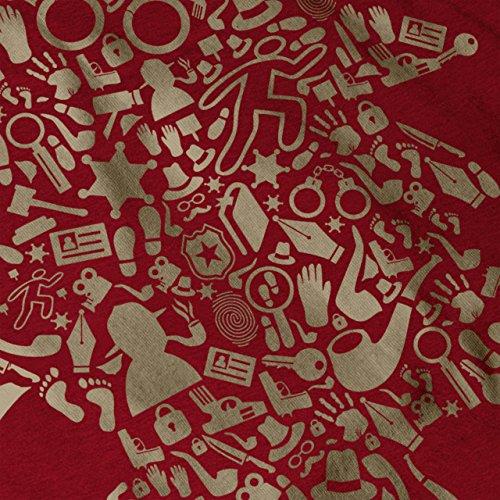 Kopf Kunst Artikel Fantasie Damen S-2XL Muskelshirt | Wellcoda Red