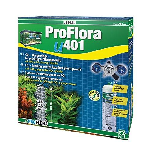 JBL ProFlora u401 63030 CO2-Pflanzendüngeranlage mit Einweg-Flasche für Süßwasser Aquarien