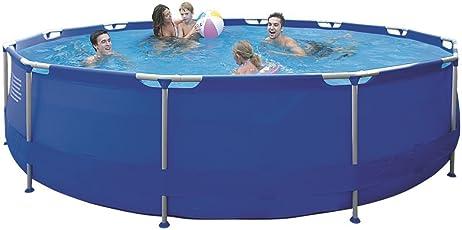 Jilong Sirocco Blue 420 - Stahlrahmenbecken, runder Pool Durchmesser 420 x 84 cm, blau, 9495 L, 17542