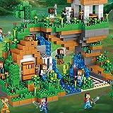 XuBa 957 Stück My World versteckte Wasserfall-Bausteine, Spielzeug, Geschenk für Kinder, kompatibel mit Lepine Legoed Minecrafted City Spielzeug ohne Originalbox