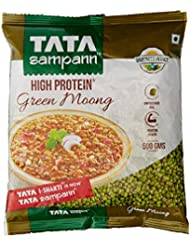 Tata Sampann Green Moong, Whole, 500g