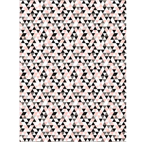 Decopatch 699 Motif Geometrique Noir Et Rose
