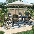 Gartenmöbel 6+1 Sitzgruppe Tisch 220 x 95 cm Gartengarnitur Gartenset Sitzgarnitur Kunststoff Set von OSKAR - Gartenmöbel von Du und Dein Garten