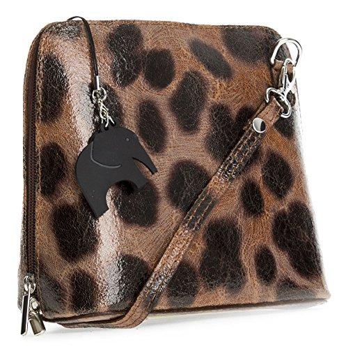 Big Handbag Shop, Borsa a tracolla donna Taglia unica Leoparat Big- Brown