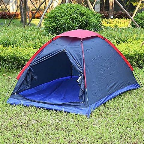 Zwei Person Outdoor Camping Zelt-Set Fiberglas Pole Wasser Widerstand mit Tragetasche für Wandern Reisen