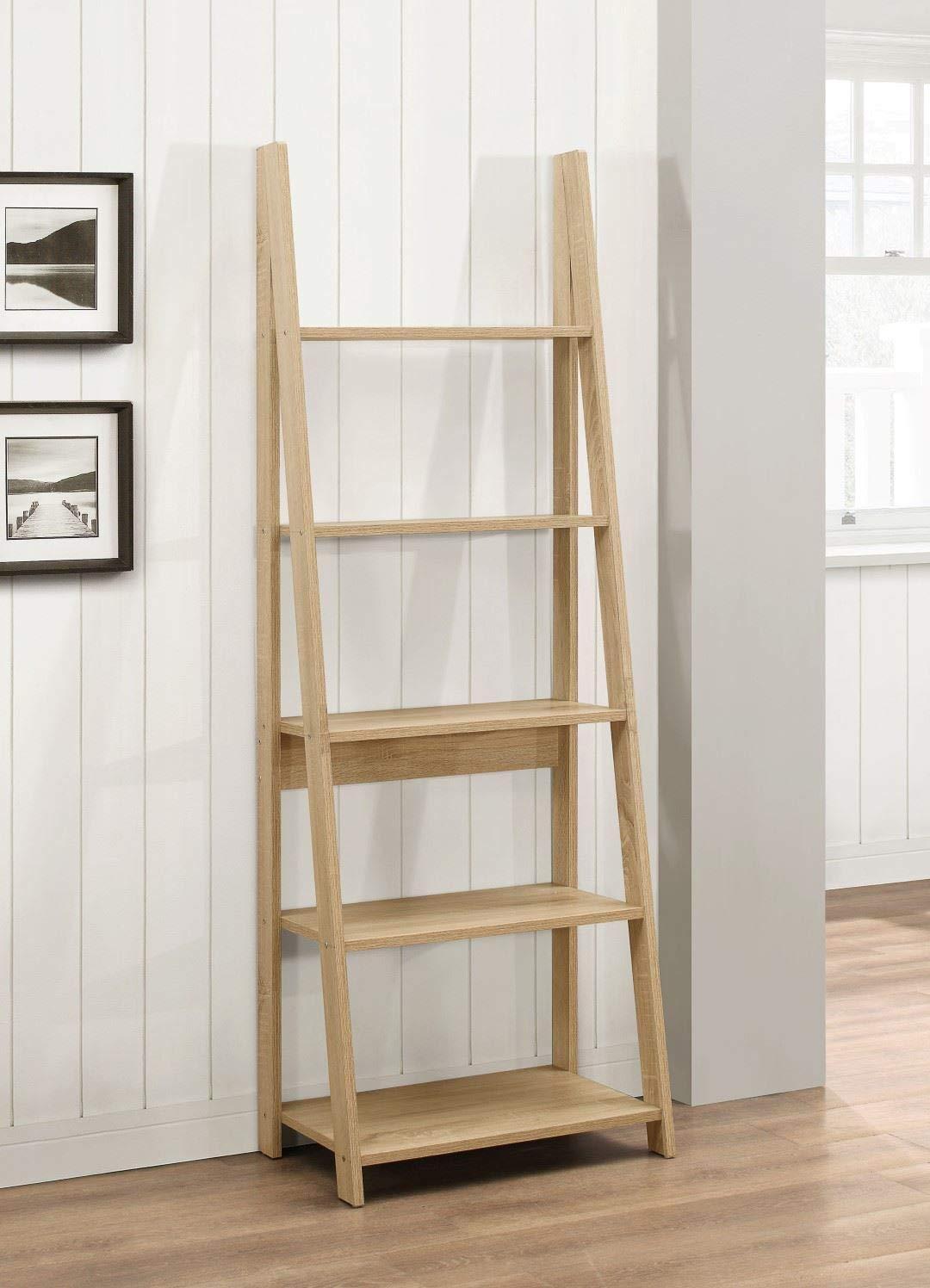 61wvkKAkjdL - Birlea, Dayton, Ladder Bookcase, Wood, Oak, One Size