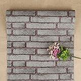 FENTIS Papier Peint Adhésif Auto-Collant Décoratif Wallpaper Sticker Repositionnable Gris 45 * 500cm