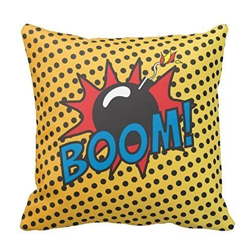 Comic Book Crash, Boom Pillow Cover 20inch Holiday Pillowcases