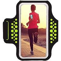 Haissky Fascia Da Braccio Sportiva sweatproof corsa fascia da braccio per iPhone 8/7/6/5/5C/5S Galaxy S6/S5,Huawei, ASUS…