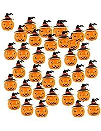 Tradico® 30pcs Alloy Crystal Pumpkin Brooches Pins Orange Halloween Harvest Jewellery