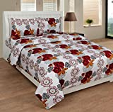 SLICK 140 TC Cotton Double Bedsheet with...