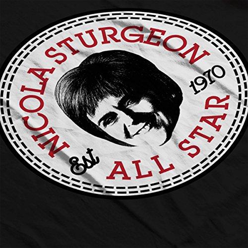 Nicola Sturgeon All Star Converse Logo Men's Vest Black