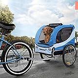 HAPPYPET Fahrrad-Anhänger für Hunde M...