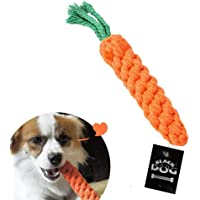 BLACK DOG Chew Dog Toys Carrot Cotton Pet Rope Chew Toys Pet Teeth Cleaning Chewing Biting Rope Toy for Puppies and Small Dogs Toys (Color May Vary) Pack of 1