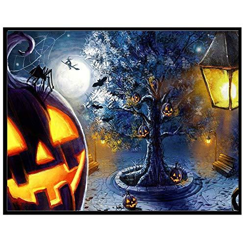 (sunshineBoby Halloween 5D Stickerei Gemälde Strass eingefügt DIY Voller Diamant Malerei DIY Handgefertigt Full Drill Diamant Set Strasssteine eingefügt Kreuzstich Home Dekoration (B,30 X 25cm))