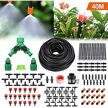 Bewässerungssysteme Bewässerungshilfen Sonnig Diy 40m Automatisch Bewässerungssystem Micro Drip Bewässerung Gartenpflanze De