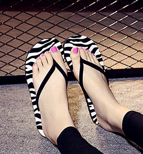 YOUJIA Femmes / Filles été Chaussures de plage Casual Tongs Sandales Ornementé #2 Zèbre