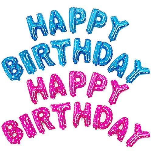16-Pollici-Felice-Compleanno-Stile-Alluminio-Foil-Film-Palloncini-Compleanno-Partito-Decorazione-Metallico-Pallone-Gonfiabile