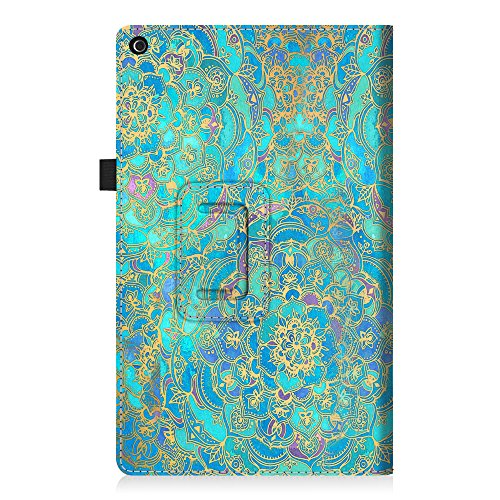 Fintie Hülle für Das neue Fire HD 10 Tablet (7. Generation - 2017) - Folio Kunstleder Schutzhülle Cover mit Ständerfunktion für All-New Amazon Fire HD 10,1 Zoll Tablette, Jade - 8