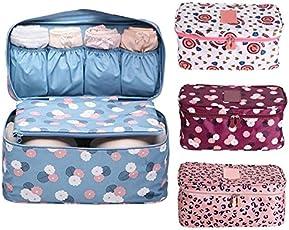 Allmart Enterprise Nylon Undergarments and Cosmetic Organizer Multicolour Toiletry Bag