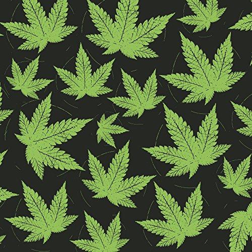 Apple iPhone 5 Housse étui coque protection Feuille de chanvre Feuille de cannabis Vert Étui en cuir gris