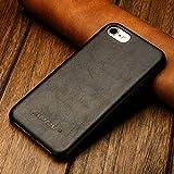 JISONCASE Vintage Hülle aus echtem Leder Slim Tasche für iPhone 7 / iPhone 8 JS-IP7-02A10